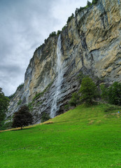 Cliff face in Lauterbrunnen, Switzerland