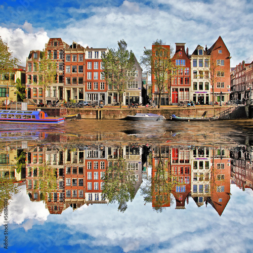 Fotobehang Amsterdam beautiful Amsterdam, Holland