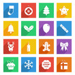 bright christmas icons