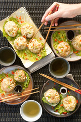 steamed dumplings - hand
