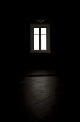 Black room, white window light
