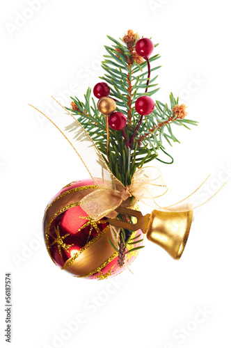 Christmas decoration baubles and bell
