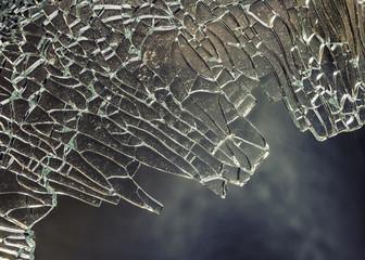 Brocken glass background