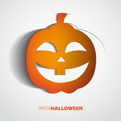 Halloween Pumpkin isolated on white - Scary Jack - Vector illust