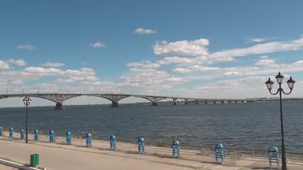 Volga river in Saratov