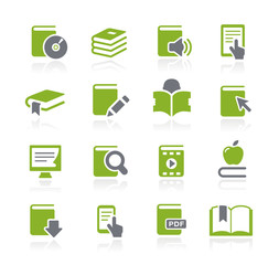 Book Icons -- Natura Series