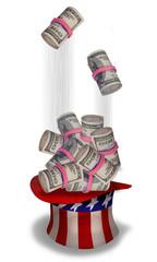American Rolls of Cash.
