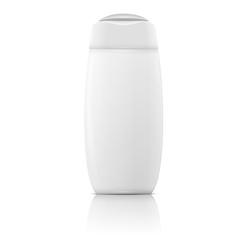 White shampoo bottle template.