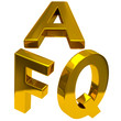 Frequently asked questions golden icon
