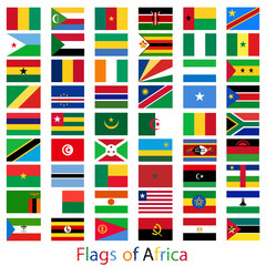 Flags Africa set