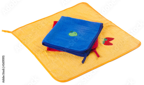 towel, kitchen towel on a white background