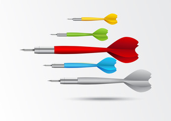 Colorful darts background