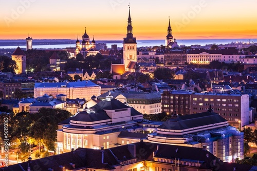 Tallinn Estonia Skyline