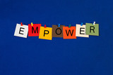Empower - Business and Economics sign
