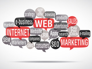 word cloud : web marketing