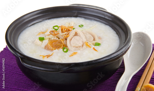 abalone porridge rice gruel
