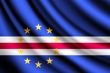 Waving flag of Cape Verde, vector