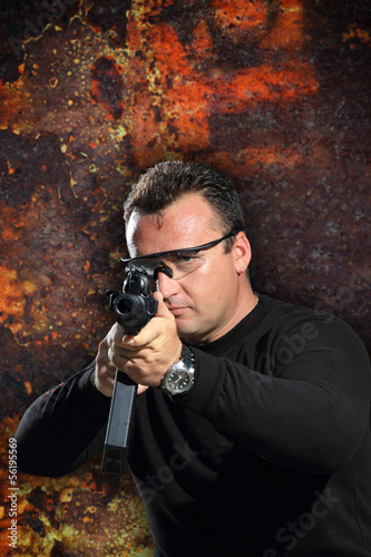 special tactics man holding a weapon