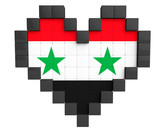 Pixel Heart as Syria Flag