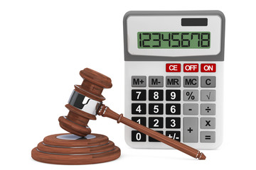 Justice Gavel with Calculator