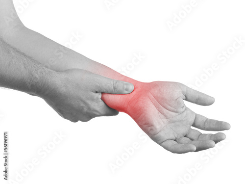Pain in a man wrist.