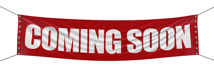 """Coming soon"" banner  (clipping path included)"