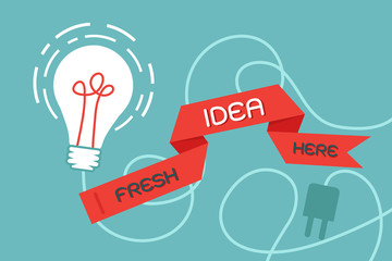 bulb idea ad ribbon