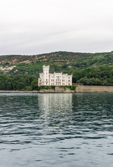 Miramare Castle from the sea, Trieste. Italy