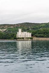 Miramare Castle from the sea, Trieste. Italy
