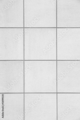white tile wall