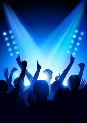 Cheering crowd at a concert (poster format)