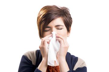 Sick woman