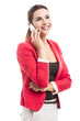 Business woman talking at phone