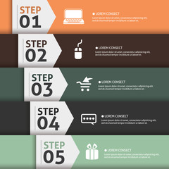 Banner Infographics (Vector Background Number Options Banner, cr