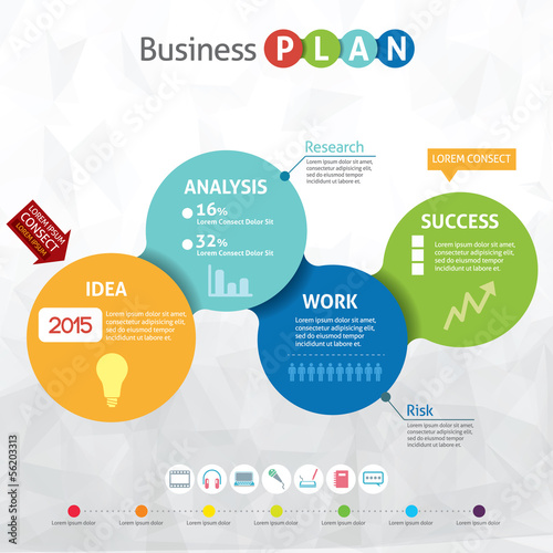 Modern business circle - business pan