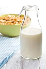 milk in jar