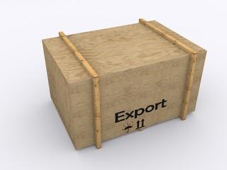 Holzkiste Export