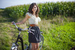 Pretty girl with bike