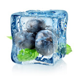 Fototapety Ice cube and blueberry