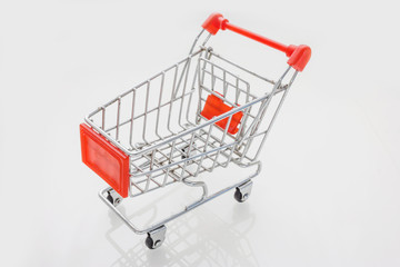 A Shopping Cart Isolated On White background