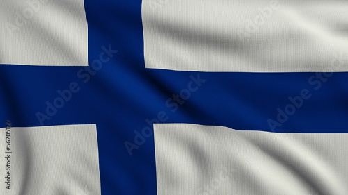 Flag of Finland looping
