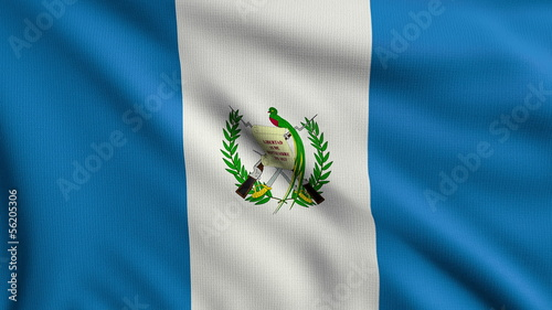 Flag of Guatemala looping