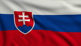Flag of Slovakia looping