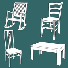 Furniture doodle texture