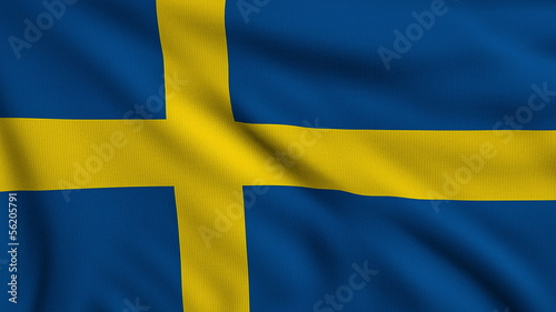 Flag of Sweden looping