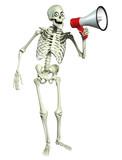 3d cartoon skeleton