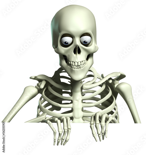Fotobehang Sweet Monsters 3d cartoon skeleton