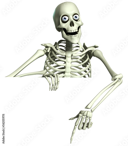 Foto op Plexiglas Sweet Monsters 3d cartoon skeleton