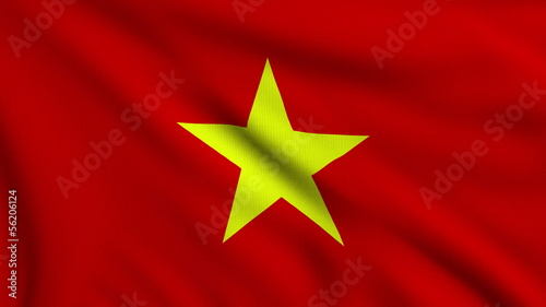 Flag of Vietnam looping