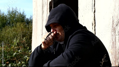 Man with a rosary at the ruins of old building episode 5
